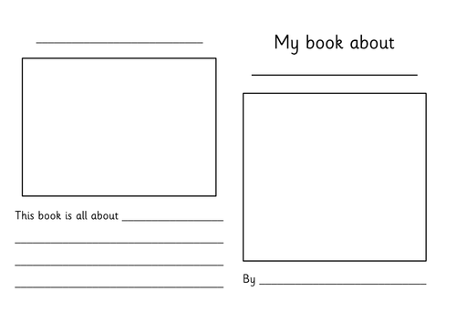 Book Cover Template Tes : Early years literacy for teaching resources