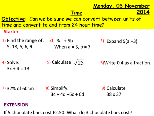 Converting 24 hour and 12 hour time by snasato - Teaching Resources ...