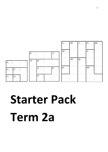Maths Starter Booklets (inc puzzles, maths basics) by mej