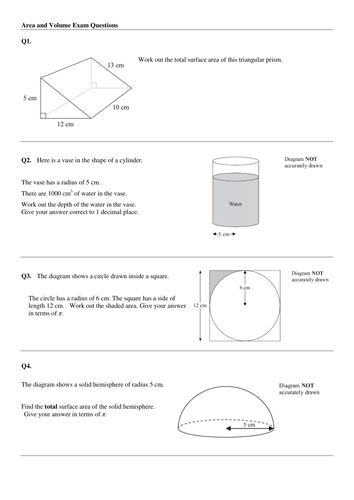Volume and area aa gcse questions by mrsmorgan1 teaching volume and area aa gcse questions by mrsmorgan1 teaching resources tes ccuart Image collections