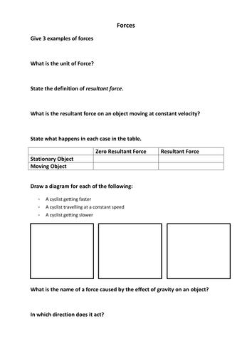 AQA Physics P2.1 Worksheet
