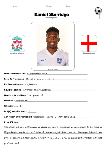 French Footballer Profile By Lmd030190