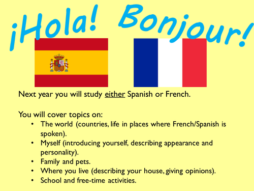 Spanish Induction / first lesson / introduction