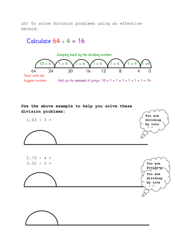 chunking method for division