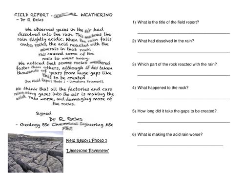 Rock Weathering Booklet