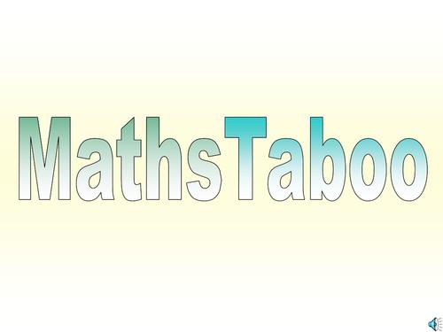 Maths taboo