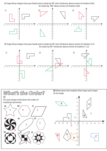 Printables Rotations Worksheet rotation worksheet by christyfalconer teaching resources tes