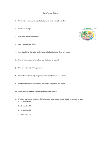 Child Development GCSE worksheets by mary.hardiman - Teaching ...