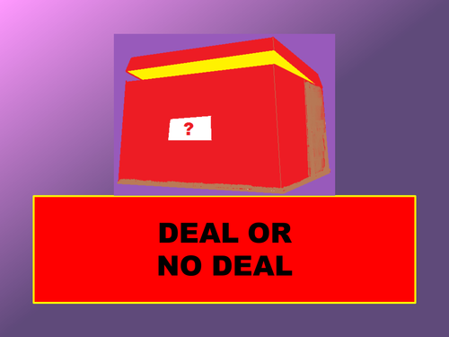 end of term deal or no deal by londinius teaching resources tes