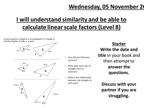 Similar Shapes Worksheet by Tristanjones Teaching Resources TES – Similar Shapes Worksheet