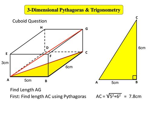 3-D Pythagoras & Trigonometry by derek.h.john21 - Teaching ...