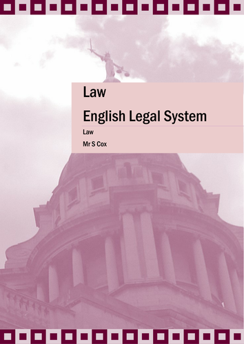 English Legal System Guide and Study Aid
