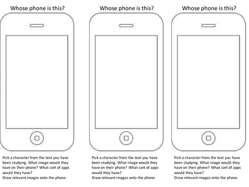 Preview A Text Worksheet : Whose phone is this by mushroomofjoy teaching resources