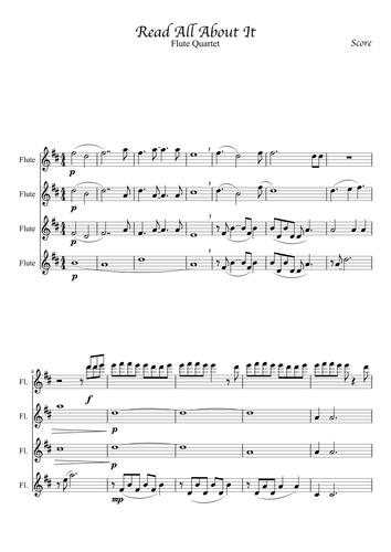 Read All About It - Flute Quartet