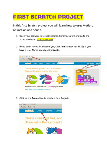Scratch Tutorial 1 - Motion Animation and Sound by np11 | Teaching