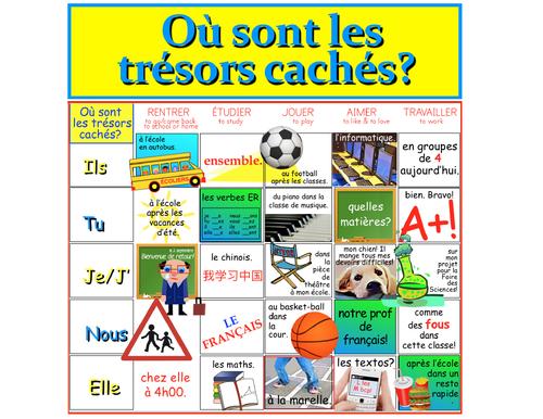FRENCH: Où sont les trésors cachés (verbes ER)