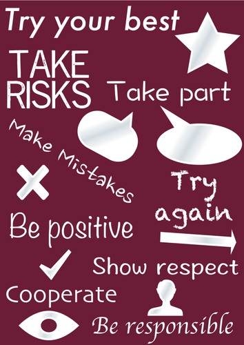 Classroom expectations/values posters