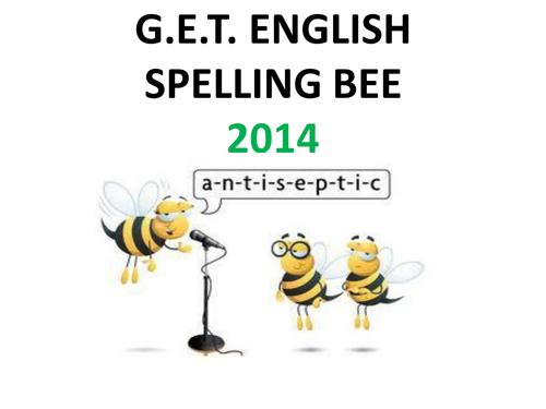 Spelling Bee - words & origins