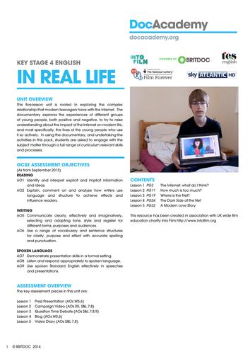InRealLife - Young people & the web