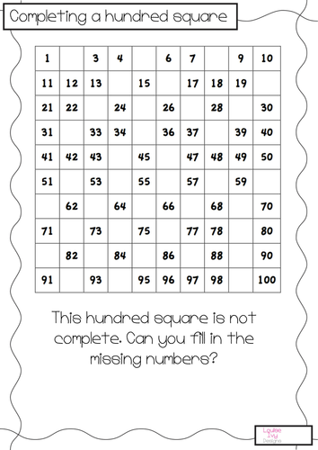 Completing Hundred Square