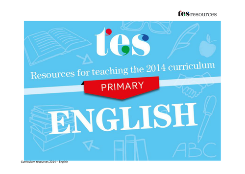 New curriculum 2014: Primary English
