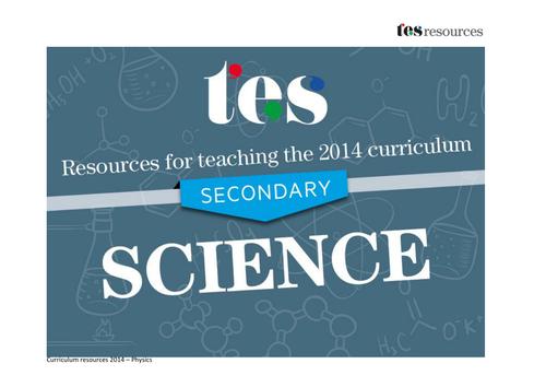 New curriculum 2014: Secondary physics