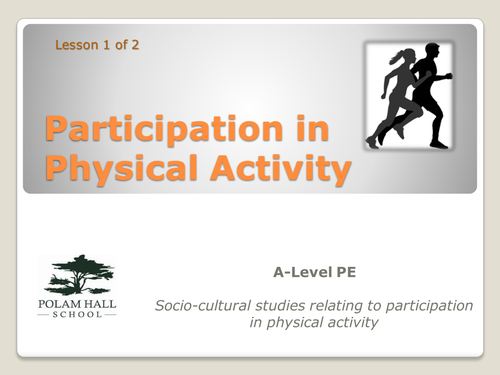 participation sport and physical activity