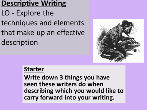 Descriptive Writing for IGCSE