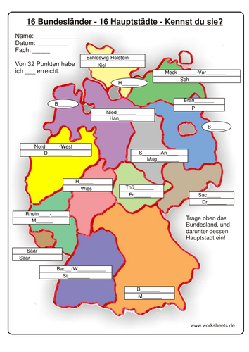 PeopleQuiz Trivia Quiz German States Capital Match Germany States - Germany map quiz