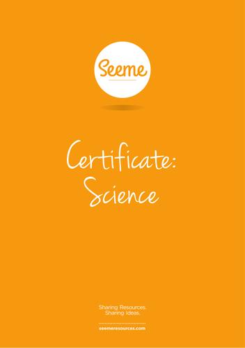 Mini Beasts Award Certificate