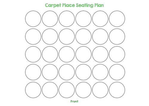 Carpet Place Seating Plan Template by sophialouisechivers