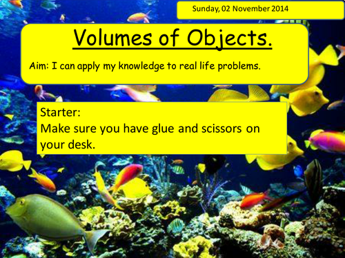 Calculate the volume of fish tanks 3d shapes by w100e100 for Fish tank size calculator