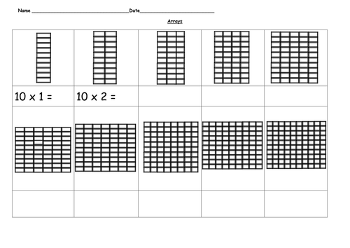 arrays 10 time tables by ruthbentham teaching resources tes. Black Bedroom Furniture Sets. Home Design Ideas