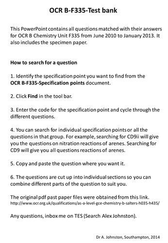 Ocr salters chemistry coursework examples top personal statement ghostwriter sites us