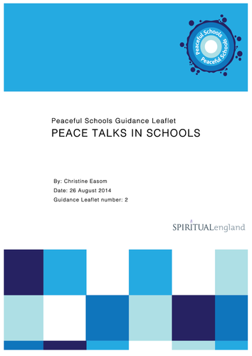 Peace Talks in Schools