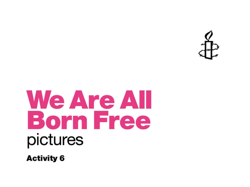 Book and activities: We Are All Born Free