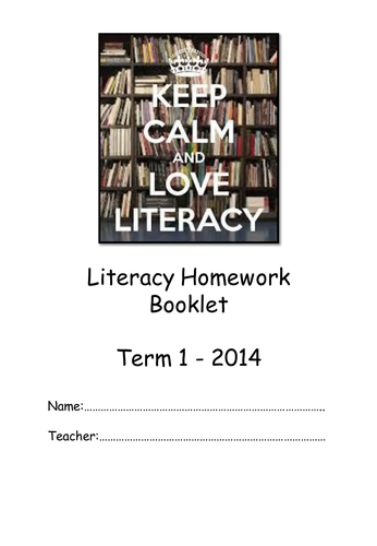 Homework booklet