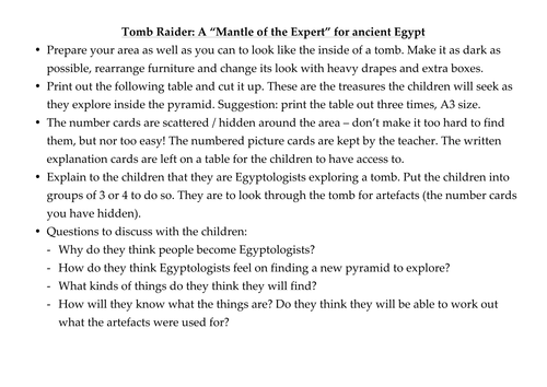 An Egyptian Mantle of the Expert