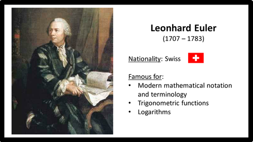Greatest mathematicians and their work