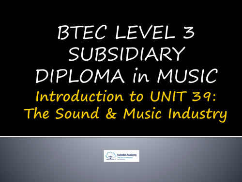 unit 39 the sound and music industry