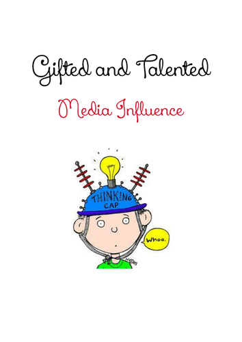 Media Influences - Booklet for Extended Learning