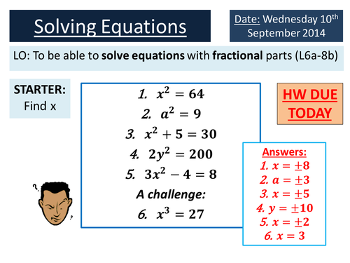 KS34 Solving Equations with Fractions by ryangoldspink Teaching – Solving Equations Involving Fractions Worksheet