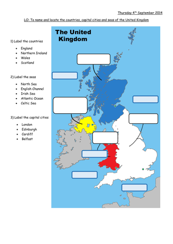 Map Of England For Ks1.British Isles Map To Label
