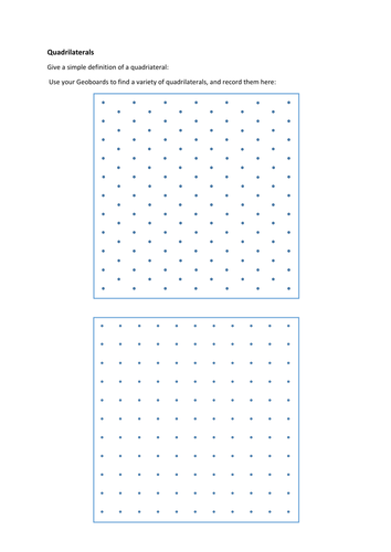 Geoboard Templates by colinbillett - Teaching Resources - Tes
