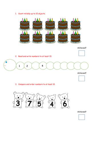 Reception Maths Assessment
