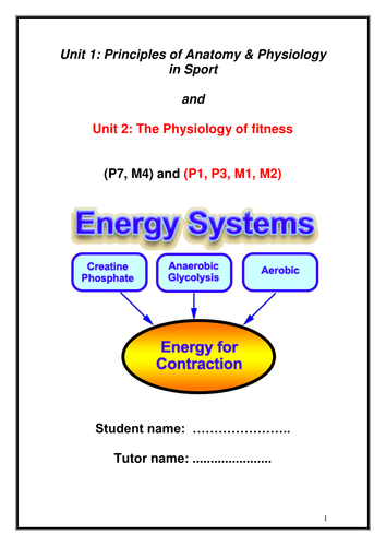 BTEC Level 3 Sport - Energy Systems by ste9 - Teaching Resources - Tes