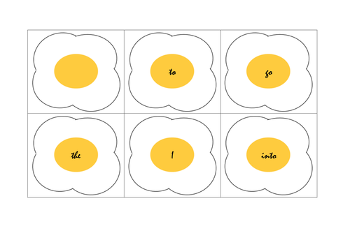 Fried Egg Tricky Word Phonics Game