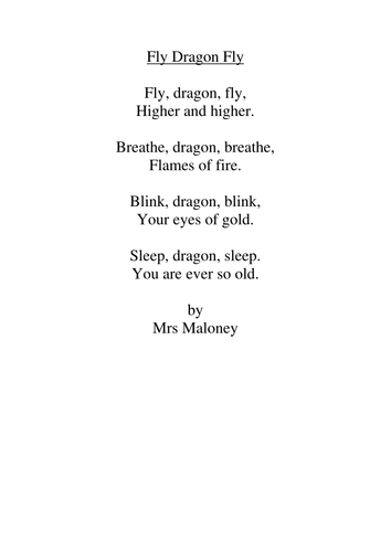 dragon poems by lmaloney teaching resources. Black Bedroom Furniture Sets. Home Design Ideas