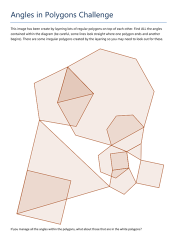 Angles In Polygons Challenge By Tristanjones Teaching Resources Tes