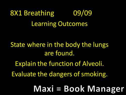 Breathing Year 8 Science Works 2